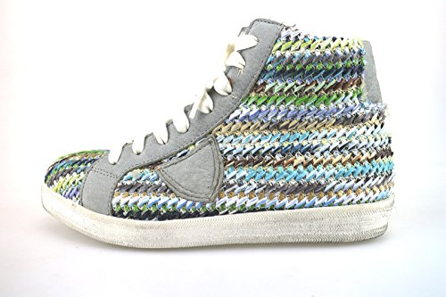 Pelle Multicolor Ag227 Crown Donna Sneakers Tessuto 1wT7vq