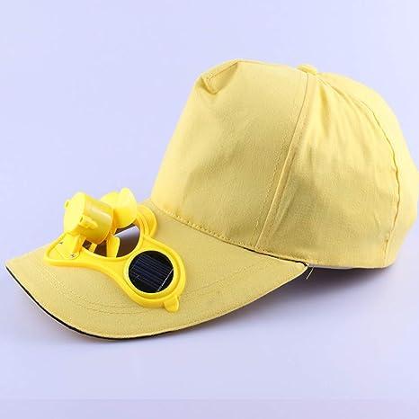 WYKDA Nuevos Hombres Calientes Mujeres de Energía Solar Sombreros ...