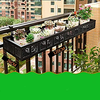 Puesto de plantas Soporte de flores de barandilla de hierro ...
