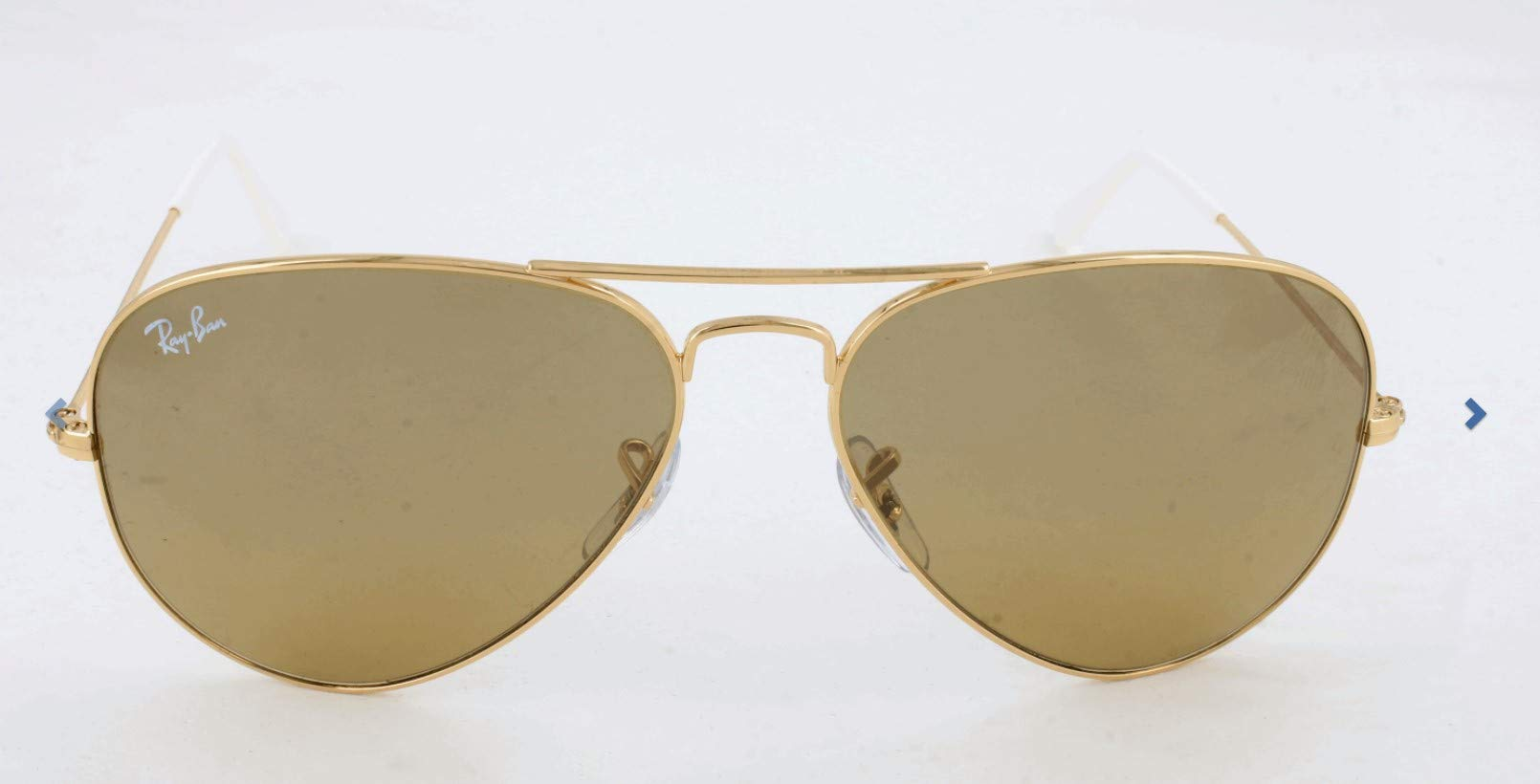 RAY-BAN RB3025 Aviator Large Metal Sunglasses, Gold/Brown Mirror Gradient, 55 mm by RAY-BAN