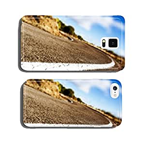 Detail curved road background cell phone cover case Samsung S5