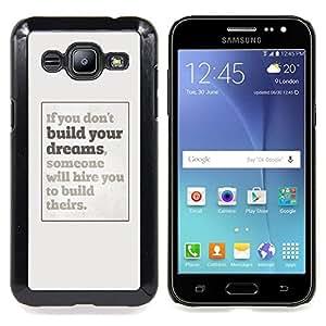 - dreams you inspiring poster grey inspiring - - Modelo de la piel protectora de la cubierta del caso FOR Samsung Galaxy J2 RetroCandy