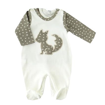 Conjunto de camiseta & Pelele Blanco de color marrón con zorro weiß-braun Talla: