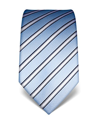 meeting for Light event men's wedding Vincenzo striped in informal silk tie design business as neck for Boretti special party free such ideal as work daily wear well tie Blue as a stains x5q4A4WRZw