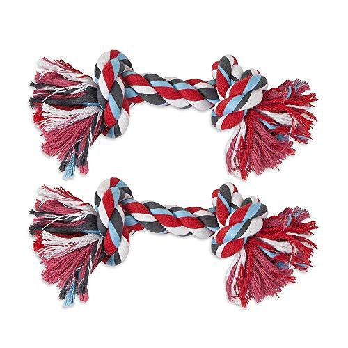 Booda Pet Aspen Bone - ASPEN/BOODA CORPORATION DBX50774 2-Knot Rope Bone Dog Toy, X-Large
