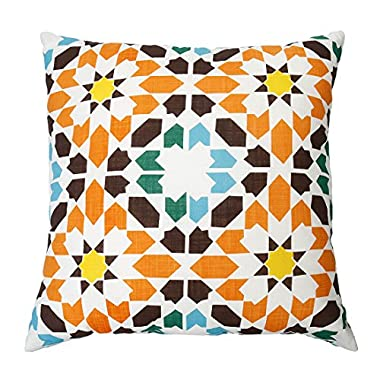 DOZZZ Kaleidoscope Floor Cushion Bohemian Decorative Pillow for Couch Cushion Pillow Summer Indoor/ Outdoor Throw Pillow 20 x 20 Inch