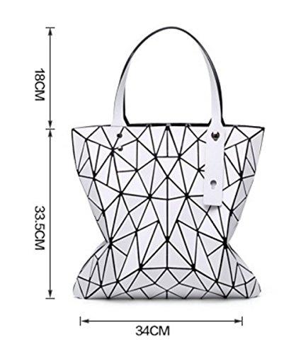 Moda Geometric Personalità Da Borse Borsa Donna Catena Silver Package Pieghevole Piccola Lingge Quadrata HHAF8