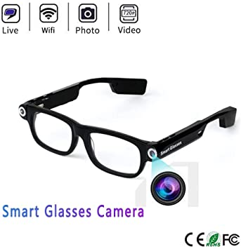720P Mini Glasses Spy Hidden Camera Glasses Eyewear Recorder Cleaning Clothes GA