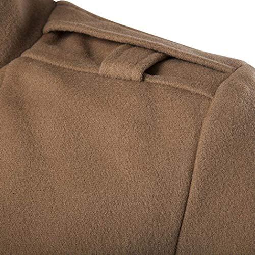Lunga Lunga Lunga Cardigan Manica Ntel Ntel Ntel Ntel Uomo Uomo Khaki da Petto Giacche in da Doppio Uomo Outwear Sottile Abbigliamento Giacca Adelina Ntel Cotone da Coats XvTqUvO