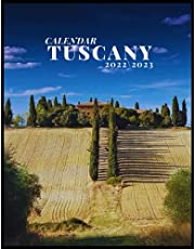 TUSCANY CALENDAR 2022'3: Italy wonder monthly calendar 2022 18 months size 8.5x11 inch with high quality images glossy .