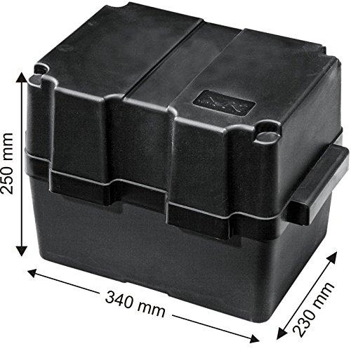 Batteriekasten mit Befestigungsgurt 340 x 230 x 250 mm /für Batterien 280 x 195 x 230 mm