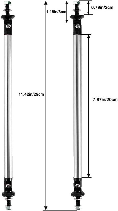 Gold Pack of 2 Front Rear Bumper Lip Splitter Strut Rod Tie Support Bars 200MM AUXMART Splitter Rods Adjustable