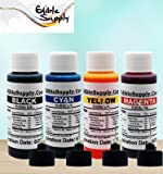 Edible Supply 9 oz Bk/c/m/y Edible Ink Refill Bottle Combo for All Canon Printer