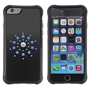 Paccase / Suave TPU GEL Caso Carcasa de Protección Funda para - Abstract Blue - Apple Iphone 6