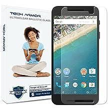 Nexus 6P Glass Screen Protector, Tech Armor Premium Ballistic Glass Google Nexus 6P Screen Protectors [1]