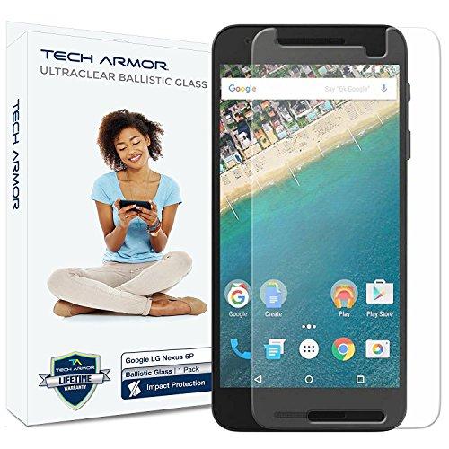 n Protector, Tech Armor Premium Ballistic Glass Google Nexus 6P Screen Protectors [1] ()