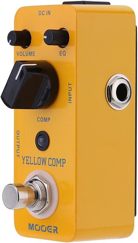 Fijo Night Compresor Pedal, Mini óptico Compresor Pedal de Efectos ...