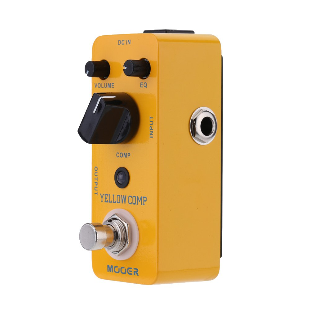 Muslady Mooer Optical Compressor Pedal de Efecto para Guitarra Eléctrica Comp Micro Mini True Bypass,Amarillo: Amazon.es: Instrumentos musicales