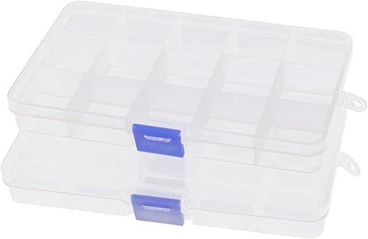 sourcingmap® Caja Estuche De Almacenamiento De Plástico 2 Pcs ...