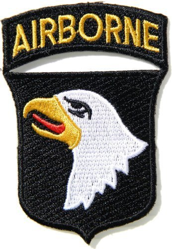 101st AIRBORNE Divisions Screaming Eagle Army Military United States Team Jacket Uniform Patch Sew Iron on Embroidered Badge Sign Costume