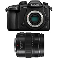 Panasonic DC-GH5KBODY Lumix 4K Mirrorless Camera Body, 20.3 MP, 3.2 LCD & Panasonic LUMIX G X VARIO H-HSA12035