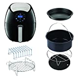 GoWISE USA 3.7-Quart 7-in-1 Air Fryer with 6 pc. Accessory Set