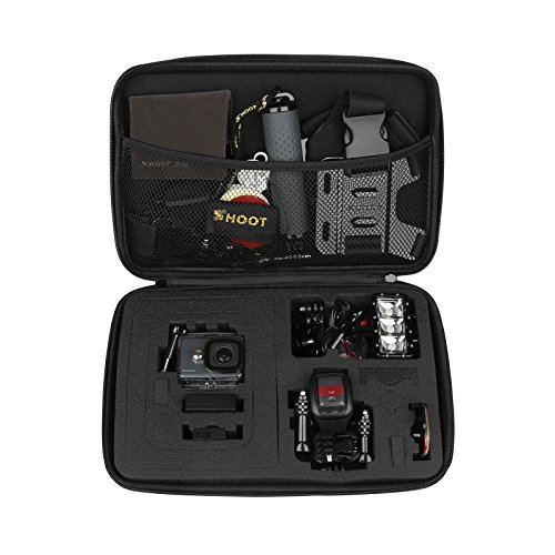 SHOOT Large Waterproof Carrying Case for GoPro Hero 7/6/5 St