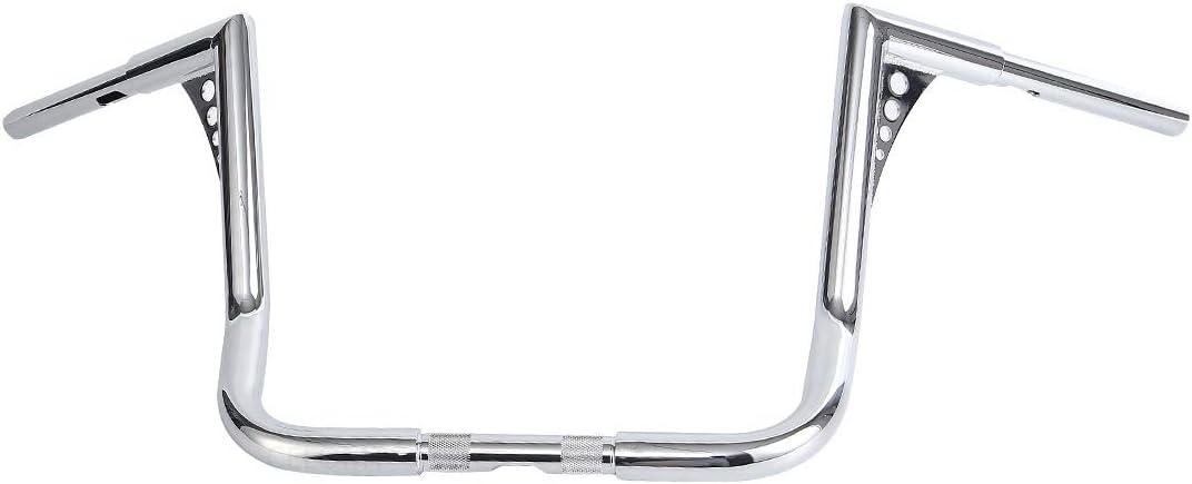12 inch 1-1//4 Chrome Ape Hanger HandleBar Fit Harley Touring