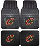 cleveland car floor mat - A Set of 4 NBA Universal Fit Front and Rear All-Weather Floor Mats - Cleveland Cavaliers