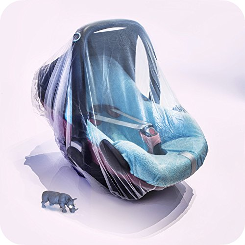 Microfibre Seat (The Only Drawstring Mosquito Net for Baby Strollers, Car Seats , Bassinets and Carriers - Ultra Fine Mesh Protection Against Mosquitos, No-See-Ums and tiny bugs no Harmful Chemicals.)