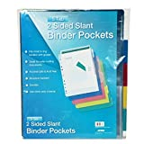 5 Tab Two Sided Binder Pockets w Tabs, Case of 36