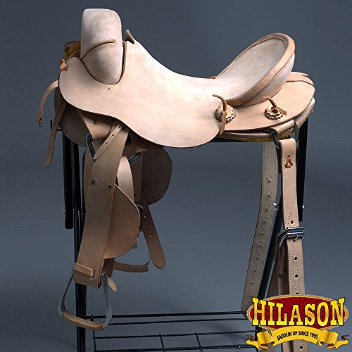 HILASON 17″ Classic Series Hand-Made Rodeo Bronc American Leather Saddle