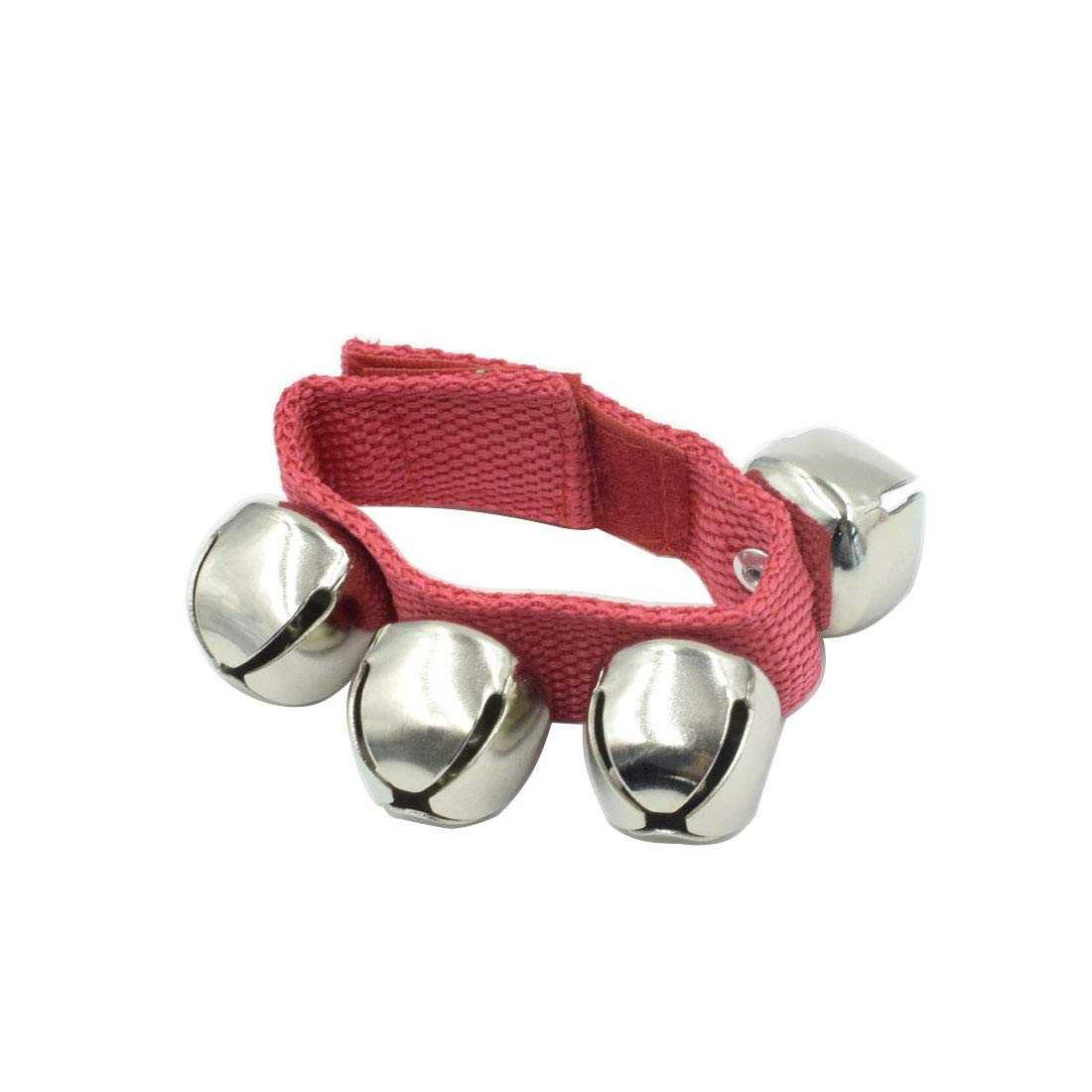 Pair Red A-Star Small Wrist Jingle Sleigh Bells with Nylon Strap