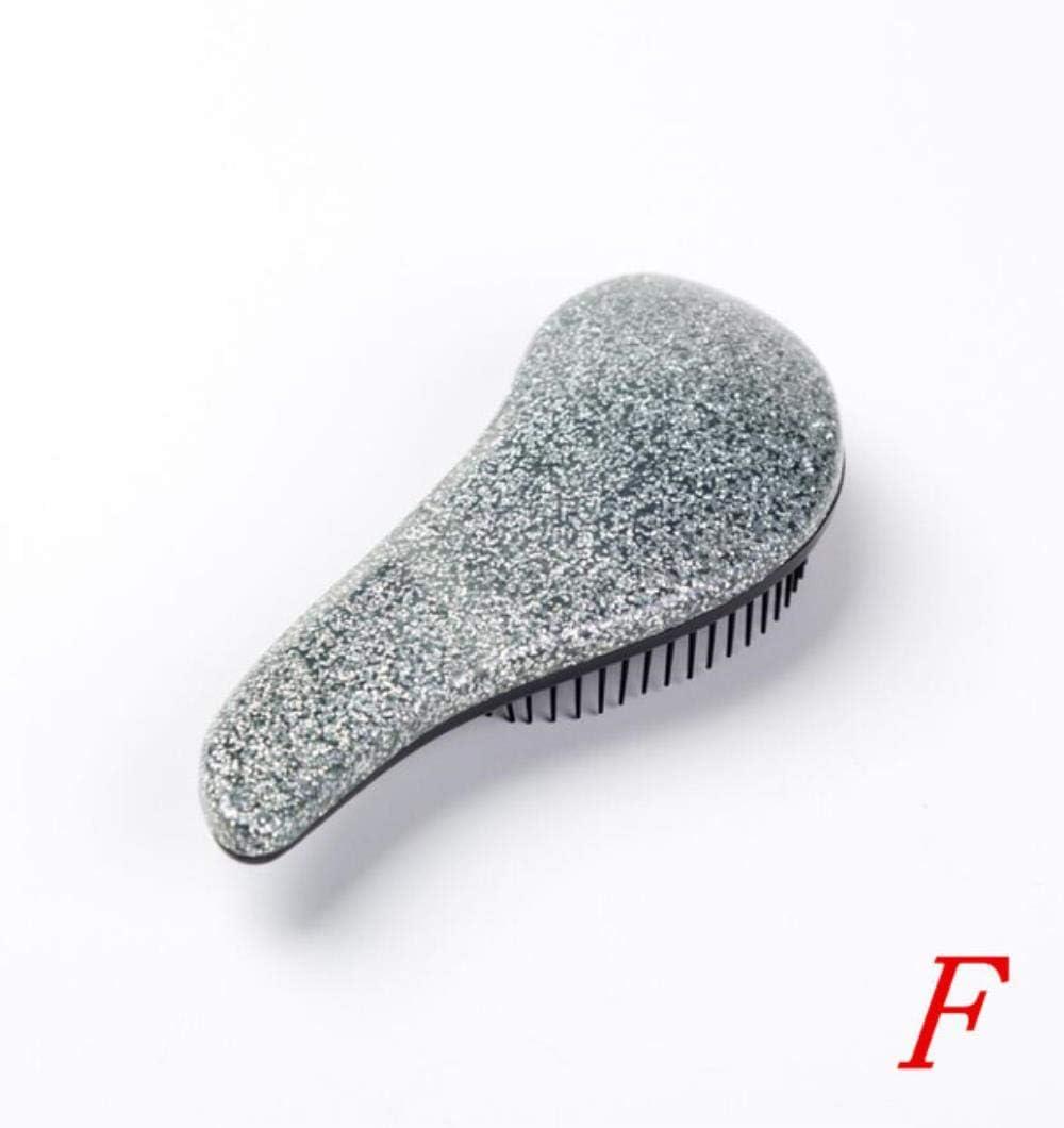 Cepillo de Masaje para el Peinado del Cabello Peine de Herramientas de brocha Peines Vientre reparación estática (sin Embalaje),F