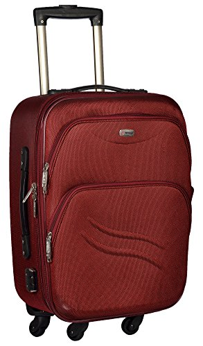 Trolley Bag Polyester Matty 50 cms Red Softsided Cabin Bag  TTB PANDA20 RED