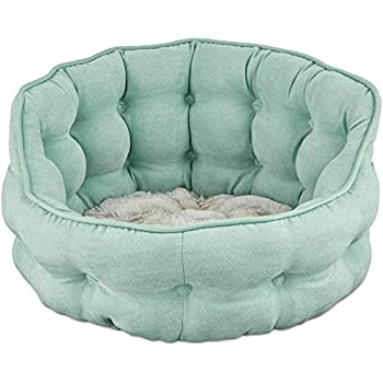 "Amazon.com : Harmony Tufted Cat Bed in Seaglass, 18"" L x"