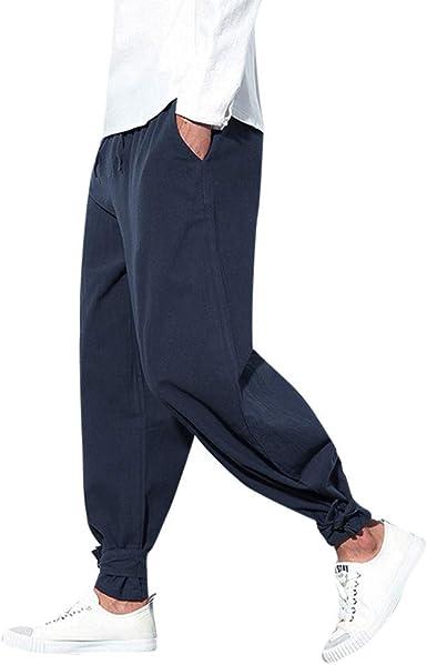 Subfamily Pantalones para Hombre - Pantalones de Color Puro para ...