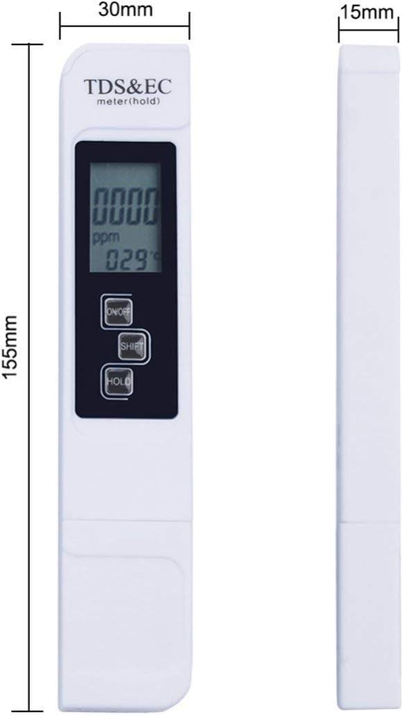 sdfghzsedfgsdfg TDS Stylo de test de qualit/é de leau Instrument de mesure de la conductivit/é de leau du robinet Instrument de test EC D/étecteur deau potable