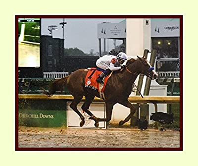 Treasure Chest Shoppe Justify Wins 2018 Kentucky Derby First Leg of the Triple Crown 11x14 Double Matted 8x10 Photo Print FLYING for Home