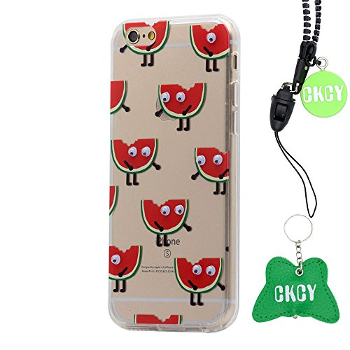 iPhone 6S Case, CKCY Cute Googly Moving Eyes Series Back Case Slim Fit for Apple iPhone 6 / iPhone 6s 4.7 Inch (Watermelon)