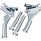 Kuryakyn Chrome Neck Cover Deluxe For 95-07 FLT FLHT FLHX FLTR FLHR Kit For Harley-Davidson (ZZ 0504-0194)