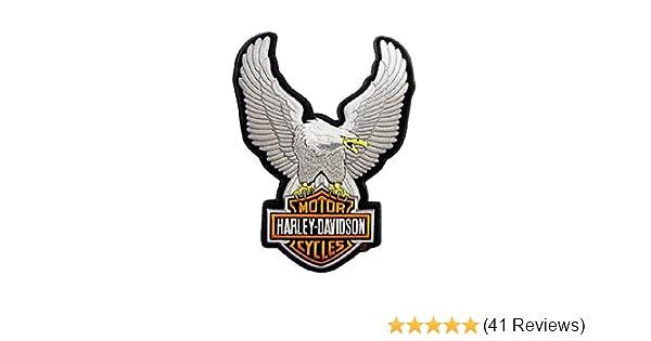 7-3//4///'/' x 10-1//4/'/' EMB328394 Harley-Davidson Eagle Winged Large Brown Patch