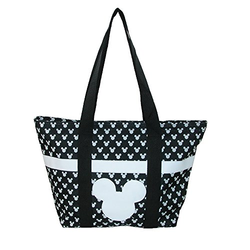 Disney Mickey and Minnie Mouse Icon Polka Dot Travel Beach Tote (Disney Tote Bag)