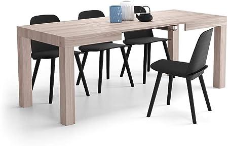 MDF,Longitud variable de la mesa: cerrada 120 cm, abierto 200 cm. Le 2 extensions se encuentran en e