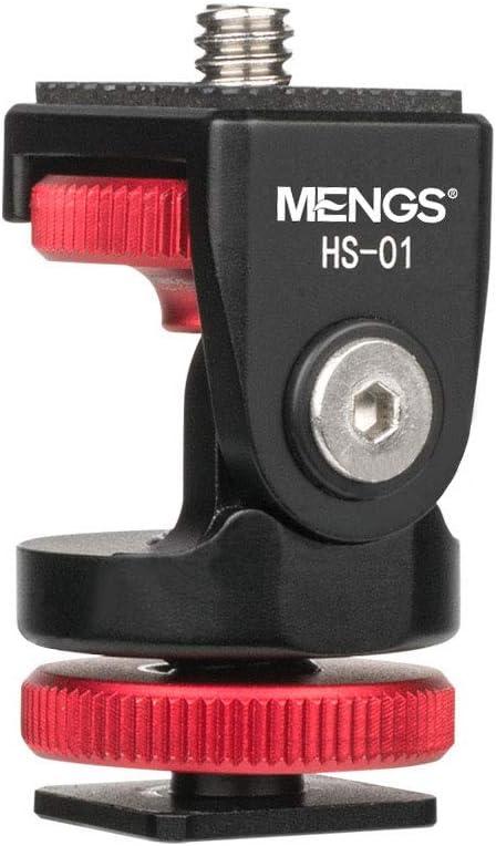 Mengs HS-01 Soporte de Bola para Montaje de Zapata de Flash Cabezal esf/érico, Orificio Inferior para Tornillos: 1//4, Peso: 34 g, di/ámetro de la Cabeza de Bola es de 20 mm Carga m/áxima: 5 kg.