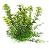 "uxcell Fish Tank Aquarium Green Plastic Grass Plants Decoration 6.7"" High"