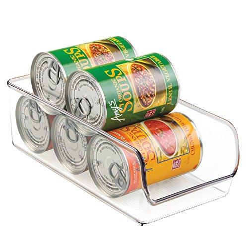 InterDesign Linus Organizador de cocina, caja de almacenaje de plástico antirrotura de tamaño mediano, transparente