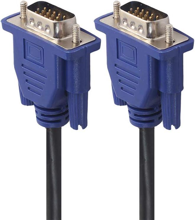 1.5m//3m//5m VGA Extension Cable HD 15 Pin Male to Male VGA Cables Cord Wire Line Copper Core for PC Computer Monitor Projector,3m