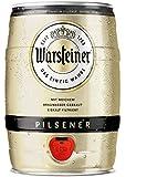Warsteiner Premium Pilsener 5 Liter Fass / Partyfass mit Zapfhahn / Internationales Bier nach deutschem Reinheitsgebot