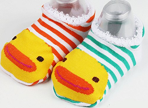 Amazon.com : Happy Cherry 10 Pairs Baby Childrens Socks Slippers Antiskid Random Color : Baby